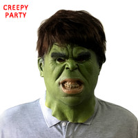 Wholesale Realistic Animal Costumes - The Hulk Masks Men's Scary Full Face Latex Mask Superhero Movie Realistic Cosplay Party Mask for Halloween Costume Props