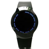 сенсорные силиконовые светодиодные часы оптовых-Мужчины Кварцевые наручные часы 12h сенсорный экран светодиодный дисплей мальчик часы силиконовый ремешок спортивные часы современный relogio