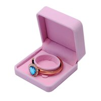 Wholesale Small Ring Display Box - New Velvet Presentation Gift Jewellery Ring Necklace Bracelet Display Box Case Cute Small Gift Box For Rings Earrings Holder