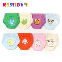 Wholesale toddler cloth nappies - Kassidy's High Quality Baby Diapers Nappy Toddler Girls Boys Waterproof Cotton Potty training pants Nappies Cloth Diaper 4 Piece