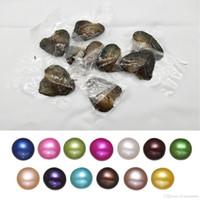 süßwasserperlen großhandel-Phantasie Geschenk Akoya Hochwertige billige Liebe Süßwasser Muschel Perlmutt 6-8mm Mischfarben Perlmutt mit Vakuumverpackung