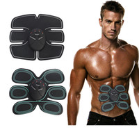 Wholesale electric slimming - Body Slimming Shaper ab crunch workout Machine TENS Electronic Abdominal Fitness Accessories EMS Wireless Electric Stimulator