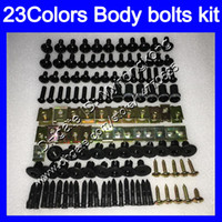 Wholesale zx11 fairings - Fairing bolts full screw kit For KAWASAKI NINJA ZX11R 93 94 95 96 ZX-11R ZX11 ZZR1100 97 98 99 00 01 Body Nuts screws nut bolt kit 13Colors