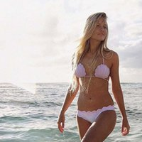 Wholesale Ice Wave - Sexy Bikini Bandage Swimsuit Wave Shell Women Swimwear Bikini 2 pcs Set Top Beach Bathing Suits S-XL