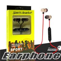 ingrosso cuffie di blackberry mic-M9 Stereo Bluetooth auricolare Sport auricolari Wireless In Ear Bluetooth 4.0 Build microfono per i telefoni astuti Hi-Fi Music Player