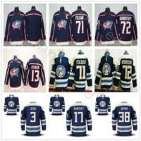 Wholesale men s jacket 4xl - 2018 New Style Columbus Blue Jackets Hockey 3 Seth Jones 17 Brandon Dubinsky 13 Cam Atkinson 71 Nick Foligno 72 Sergei Bobrovsky Jersey