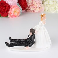 novia puede al por mayor-El novio que no puede escapar Wedding Cake Topper Bridal Supply novia novio pareja Muñecas Boda