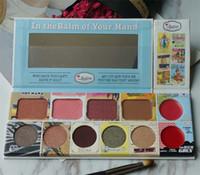 Wholesale popular eye shadow - Popular the balm 11 color blush multi-function eye shadow fashion American multi-purpose lipstick makeup plate CZ0201189