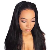 новые парики для кожи оптовых-2018 новая мода моно кружева волос парик тонкой кожи натуральных волос Топпер длинные парик топ женщин прямые волосы замена клип закрытие