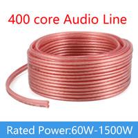 home-audio-stereo-systeme großhandel-400 Core Speaker Line OFC Stereo Lautsprecherkabel 2 * 200 Core Audio-Kabel für Zuhause / Theater / KTV / DJ-System Sauerstofffreies Kupfer