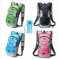 mochilas de hidratación de vejiga al por mayor-Mochila de hidratación 12L con vejiga de agua acampar al aire libre agua corriente bolso de la vejiga mochila de escalada deportiva hidratación vejiga