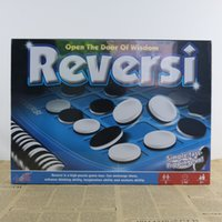 Wholesale apple gift ideas - Reversi Black White Discs Board Game Flip Chess Reversi Portable Boardgame for Family Children Gift Idea Brain Training Games Apple Chess