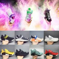 6b554b5f2 Holi yellow HUMAN RACE Pharrell x HuTrail Equality NERD cream men women  sports sneaker Holi Canvas SPORT athletic Casual Shoe trainer shoes