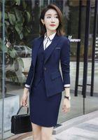 Wholesale Skirt Suit Ladies Formal - 2018 Women Business Pant Suits 3 Piece Formal Women Ladies Business Office Tuxedos Work Wear Skirt Suits