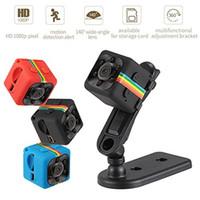 gece görüş video dış mekan kameraları toptan satış-SQ11 HD 1080 P Mini Kamera Gece Görüş Mini Kamera Spor Açık DV Ses Video Kaydedici Eylem Kameraları