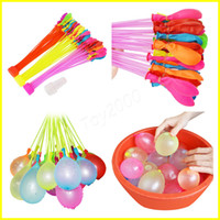 Wholesale Wholesale Ballons - Latex Water Balloons Balls 111pcs set Water Bomb Pump Rapid Injection Summer Beach Games Water inflatable Sprinking Ballons 100Sets