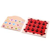 ingrosso giocattoli di sviluppo precoce-Giocattolo per bambini Giocattolo Memory Coccinella Design Training Gioco Early Education Toy Bambini Early Development Toys for Children Regalo di Natale