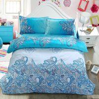 cama queen de marfil al por mayor-Juegos de cama de promoción ropa de cama juego de cama 3D conjunto edredón conjunto CAMA DE LINO BEDSHEET