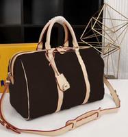 Wholesale luggage bag strap resale online - Famous Brand Women Genuine leather Messenger bag handbag Travel bag CX With Straps M42426 Luggage Wallets Have dust bags
