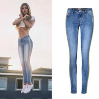 Wholesale 2xl jeans for female - 2018 Female Boyfriend Jeans For Women Denim Pants Mom Jeans Woman With High Waist Skinny Jeans Feminino Pantalon Femme Trousers