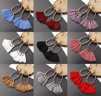 Wholesale new style long earrings for sale - Group buy New Design Bohemia Style Tassel Earrings Long Tassel Fringe Dangle Ear Stud Vintage Earring Eardrop For Women Lady