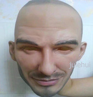 Wholesale famous halloween masks - Free shipping Halloween Party Cosplay Famous Man David Beckham Face Mask Latex Party Real Human Face Mask Cool realistic