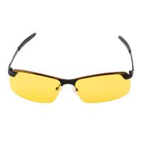 hd очки ночного видения оптовых-Желтый HD ночного видения с антибликовым покрытием антибликовые очки Очки UV400 вождения солнцезащитные очки Очки Очки продажи