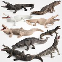 ação mundial venda por atacado-Natureza Mundo Animal Mundo Mini Brinquedo De Crocodilo De Plástico Reino Selva Animal Figura de Ação Modelo de Brinquedo Estilo