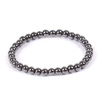 ingrosso turchese in rame nero-6mm 8mm 10mm rotondo bracciale ematite magnetica magnetica protezione della salute radiazioni bracciali stringa per le donne gioielli