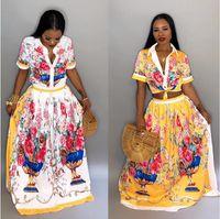novas roupas africanas para mulheres venda por atacado-Vestidos Africanos Robe Africaine Roupas Femininas Apressado Poliéster 2018 Roupas Novas Elegent De Moda
