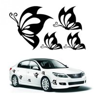 Wholesale cars butterfly doors for sale - Beautiful Butterflies Fashion Vinyl Car Stickers Animal Car Styling Decals