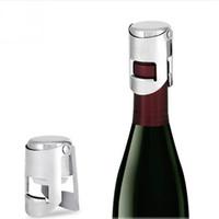 ingrosso scatola di cristallo-Tappo di bottiglia di vino in acciaio inox Tappo di tappo di bottiglia di vino spumante Champagne Stopper