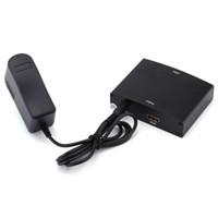 hdmi ypbpr convertidor al por mayor-Componente RGB YPbPr a HDMI Convertidor Adaptador de audio y video YPbPr / RGB + R / L de audio a HDMI AV 1080P