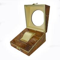 fenster geschenkkästen geben verschiffen frei großhandel-gute Qualität versandkostenfrei kleine luxus holzkiste leere holz uhr geschenk verpackung boxen mit fenster
