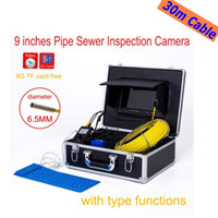 "Wholesale System Pipe Inspection - WP91 30m Cable Drain Sewer Pipe Inspection Camera System 9""LCD Video Snake Endoscope Borescope 6.5 17 23mm underwater Camera ann"