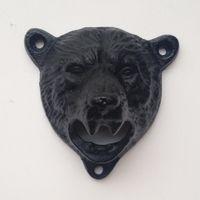 Wholesale bear shaped bottles for sale - Group buy 10pcs cast iron bear shaped hang wall mounted bottle opener