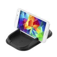 mattenhalter für telefon großhandel-Multifunktionale Auto Anti Slip Pad PU Gel Handy Regal rutschfeste Matte für GPS / IPhone / Handyhalter