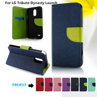 Wholesale phone launch online - For LG Tribute Dynasty Launch For Samsung Galaxy S9 Plus Flip Stand Wallet Leather Case With Frame Phone Cover D