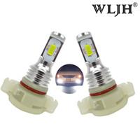 Wholesale 12v Mini Led Bulbs - WLJH 12V 24V Canbus 2504 Fog led PSX24W Fog Light LED Bulbs Daytime Running Lamp LEDs For Jeep Chrysler Dodge Subaru Impreza