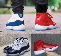 Wholesale Plastic Gym - 2018 New arrival mens Basketball Shoes 11 UNC Gym Red space jam 45 high quality 11s women Sneakers 36-46