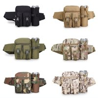 Wholesale military outdoor water bottle - Outdoor Travel Military Sport Camera Waist Bag Detachable Water Bottle Holder Waist Belt Pouch Shoulder Bag Support FBA Drop Shipping G584F