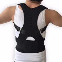 Wholesale back corrector men - New Magnet Posture Corrector Braces&Support Body Corset Back Belt Brace Shoulder for Men Care Health Adjustable Posture Band
