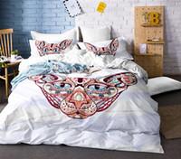 lindo blanco negro ropa de cama al por mayor-Conjunto de ropa de cama de dibujos animados para niños Conjunto de cama individual para animales Cute Cats Print Funda nórdica Ropa de cama blanca y negro Homeclothhes