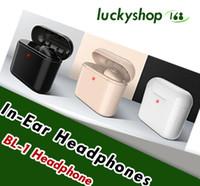 unsichtbarer drahtloser kopfhörerkopfhörer großhandel-Mini Bluetooth Kopfhörer Kabellose Kopfhörer Stereo Sweatproof Headset Ohrhörer Invisible Earpiece mit Ladekoffer Box für Smartphones