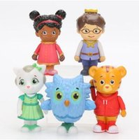 5 pz / lotto Daniel Tiger's Quartiere Amici Figure Set Daniel Tiger Prince Elaina Gufo Katerina Action PVC Figure Toy CCA8423 30lot