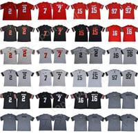 jerseys del balompié de la universidad del ncaa al por mayor-NCAA Ohio State Buckeyes Nick Bosa Jersey 97 JK Dobbins College Fútbol Dwayne Haskins Jr 15 Ezekiel Elliott Joey Bosa Justin Fields Rojo