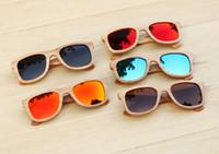 kunstgläser aus holz großhandel-handgemachte Naturholzsonnenbrillen Bambusholzsonnenbrille hölzerne Sonnenbrille Polarisierte Sonnenbrille Art- und WeiseHigh-endBambusgläser UV400