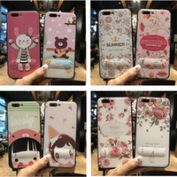 Wholesale Diy Iphone Cases - For iphone X 8 plus cell phone case iphone 7 6 plus case Soft cartoon TPU DIY creative with Video stand wholesale price free shipping