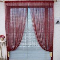 cortinas de café venda por atacado-Marca 100% 300x300cm Sólido Bege Cinzento Café Branco Preto Janela Azul Triagem Rod bolso da corda cortina da porta Divisor Cortinas