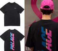 Wholesale Uomo Shirt Xl - US tide brand PAL- hip-hop fashion skateboard Orologio Uomo fitness T-shirt Court T-shirt lovers loose short-sleeved BT S